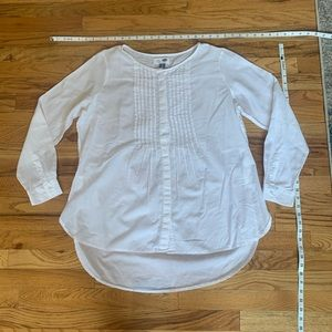 Crisp white - lightweight cotton tunic